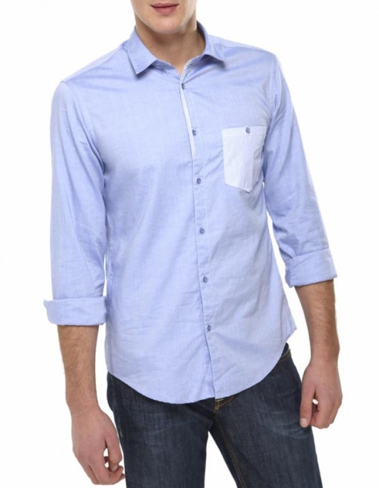 Gömlek modelleri erkek_mavi